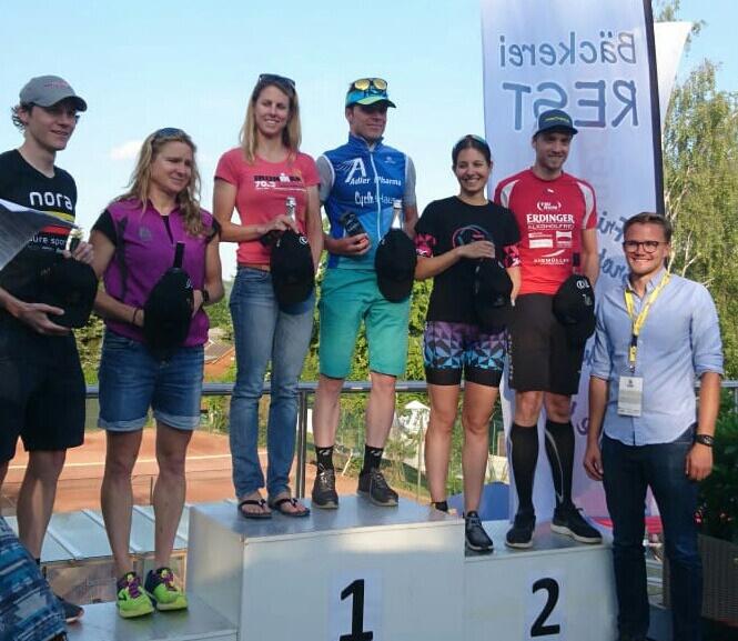 Platz 2 beim Triathlon für Martin