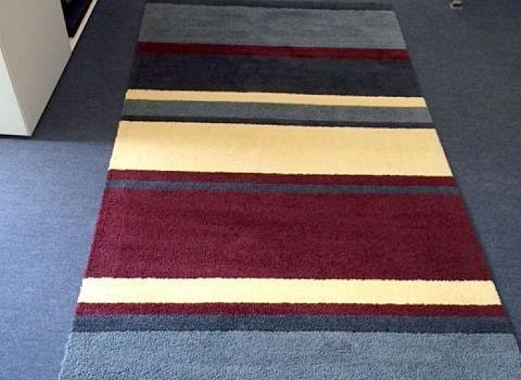 Stickmatte farbige Streifen