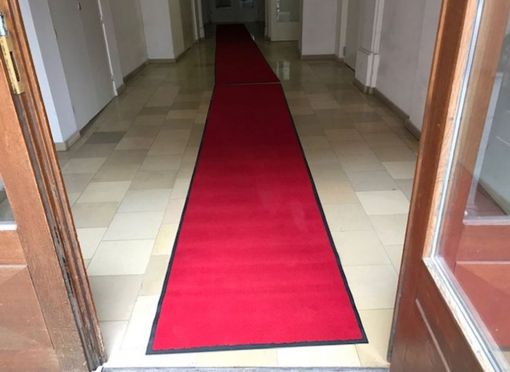 Matte von Eder Unicolor rot