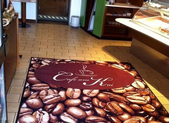 Grafikmatte Cafe am Kai